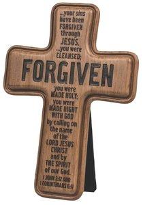 Cross: Wood Look Cast Stone: Forgiven