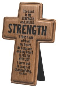 Cross: Wood Look Cast Stone: Strength