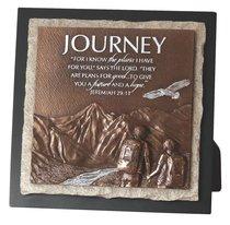 Moments of Faith Stone Sculpture Plaque: Journey, Jeremiah 29:11