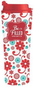 Be Series: Metal Tumbler Mug - Be Filled (Red Floral)