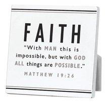 Black and White Series Plaque: Faith