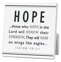 Black and White Series Plaque: Hope