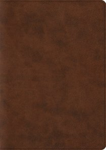 ESV Study Bible Large Print Trutone Brown (Black Letter Edition)