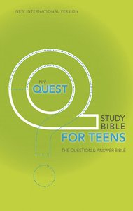 NIV Quest Study Teen Bible