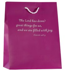 Value Gift Bag Medium: Purple (Psalm 126:3 Niv)