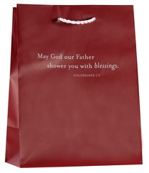 Value Gift Bag Medium: Dark Red (Colossians 1:2)