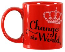 Mug: Change the World Red (Dishwasher & Microwave Safe)