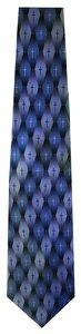Silk Tie: Gradient Pattern Cross (Khaki)