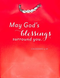 Value Gift Bag Small: Red (Colossians 4:18 Tlb)