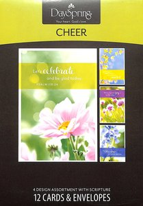 Boxed Cards Cheer: Cheerful Flowers