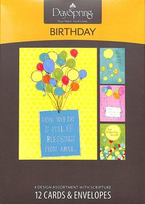 Boxed Cards Birthday: Balloons