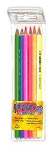 Dry Highlighter Pencil Set: Neon Pencils