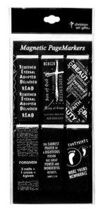 Magnetic Bookmarks Set of 6: Black & White