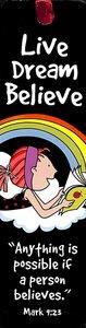 Bookmark With Tassel: Laedee Bugg - Live.Dream.Believe