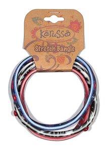 Bracelets: Jesus Lives in My Heart Stretch Bangles (3 Pack)