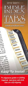 Bible Tabs Verse Finders Gold (Horizontal)