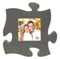 Puzzle Pieces Wall Art: Grey (Hold 1 5.5 X 5.5 Photo)