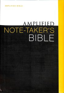 Amplified Note Takers Bible (Black Letter Edition)