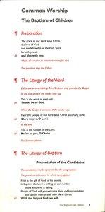 Common Worship Baptism of Children Card
