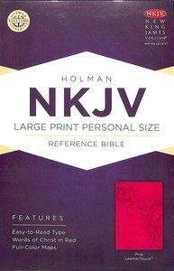 NKJV Large Print Personal Size Reference Bible Pink