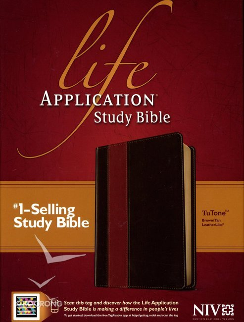 NIV Life Application Study Bible Brown/Tan (Red Letter Edition)