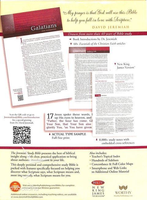 NKJV Jeremiah Study Bible, Brown Leatherluxe
