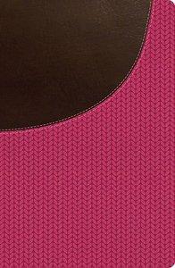 NKJV Super Giant Print Reference Bible Brown/Pink (Red Letter Edition)