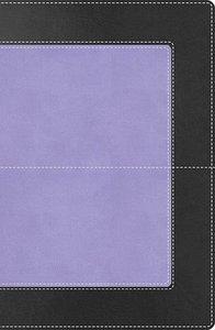 NKJV Super Giant Print Reference Bible Black/Purple (Red Letter Edition)