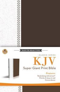 KJV Super Giant Print Reference Bible Brown/White (Red Letter Edition)