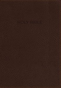 KJV Foundation Study Bible Brown Indexed (Red Letter Edition)