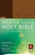 NLT Premium Value Slimline Bible Brown/Tan