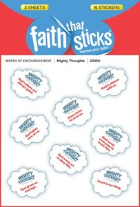 Mighty Thoughts (1 Sheet, 8 Puffy Stickers) (Stickers Faith That Sticks Series)