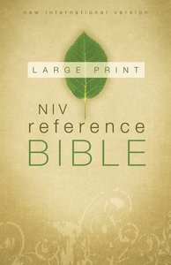 NIV Reference Bible Large Print (Red Letter Edition)