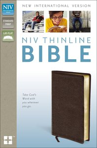 NIV Thinline Bible Brown (Red Letter Edition)