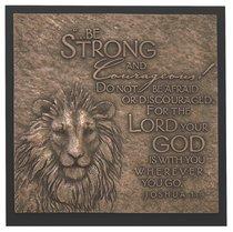 Lion Moments of Faith Sculpture Plaque