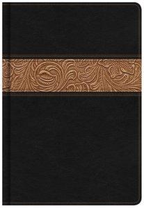 KJV Readers Bible Black/Brown Tooled Leathertouch