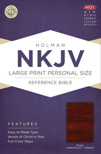 NKJV Large Print Personal Size Reference Indexed Bible Brown