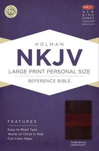 NKJV Large Print Personal Size Reference Bible Saddle Brown
