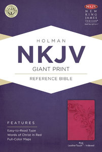 NKJV Giant Print Reference Indexed Bible Pink
