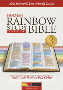 KJV Rainbow Study Bible, Kaleidoscope Black Leathertouch