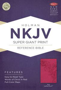 NKJV Super Giant Print Reference Bible Pink