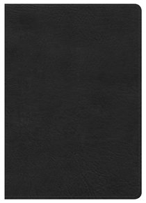 HCSB Large Print Compact Bible Black Leathertouch