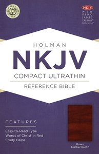 NKJV Compact Ultrathin Reference Bible Brown