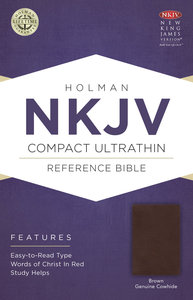 NKJV Compact Ultrathin Bible Brown