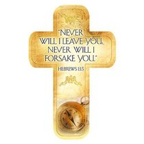 Bookmark Cross-Shaped: Never Will I Leave You.... Hebrews 13:5