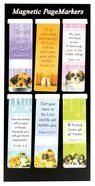 Magnetic Bookmarks Set of 6: Puppies #02