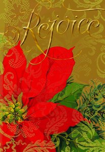 Christmas Boxed Cards: Rejoice Floral (Luke 2:7 Kjv)