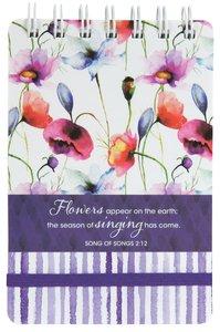 Wirebound Notepad: Seeds of Love (Purple/flowers)