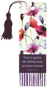 Bookmark With Tassel: Seeds of Love (Purple/flowers)