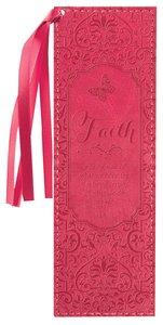 Bookmark Luxleather Tassel: Faith, Pink